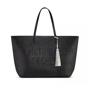 Victoria's Secret New Black vegan leather Tote
